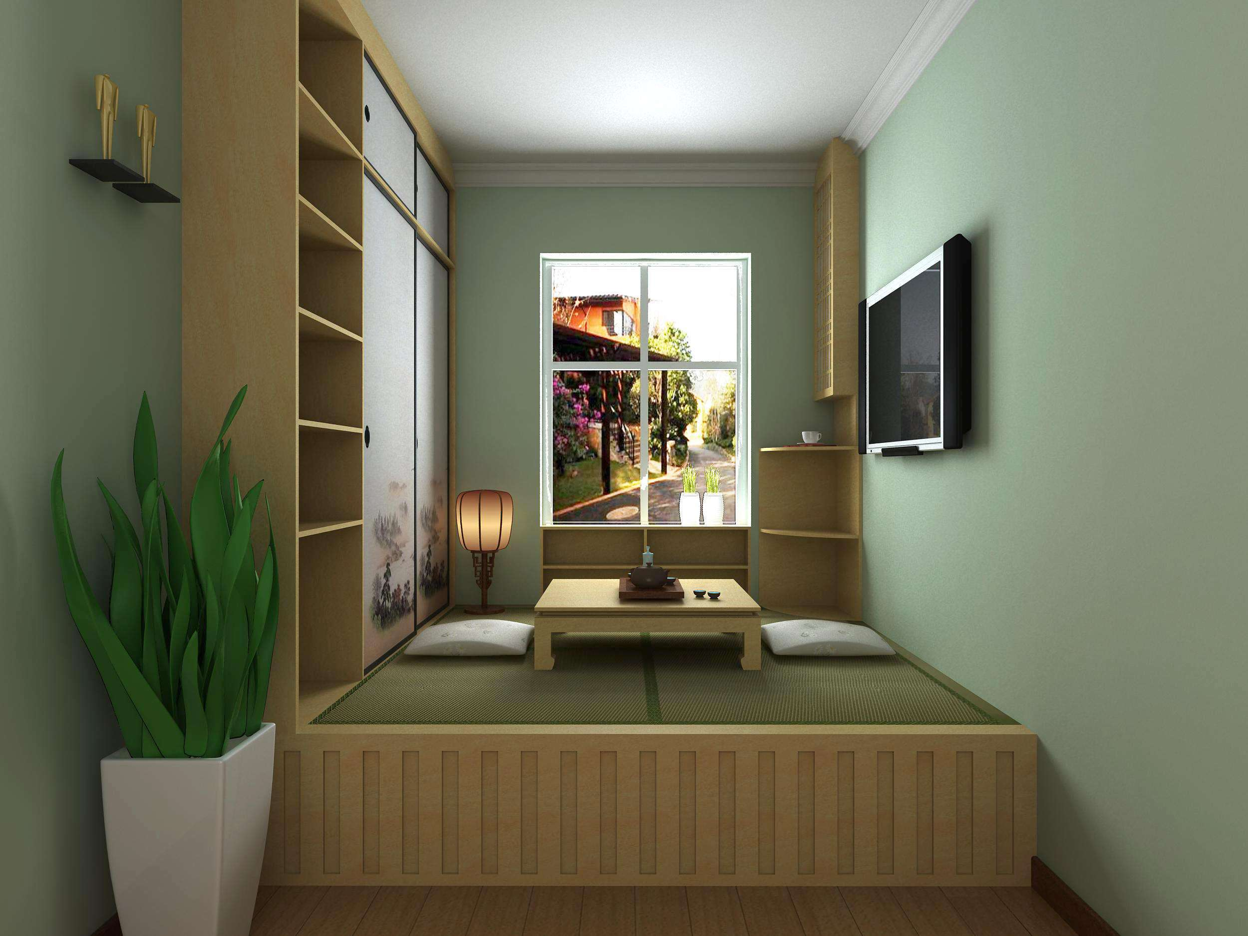 小房间榻榻米床效果图欣赏 榻榻米有哪些好处?图片