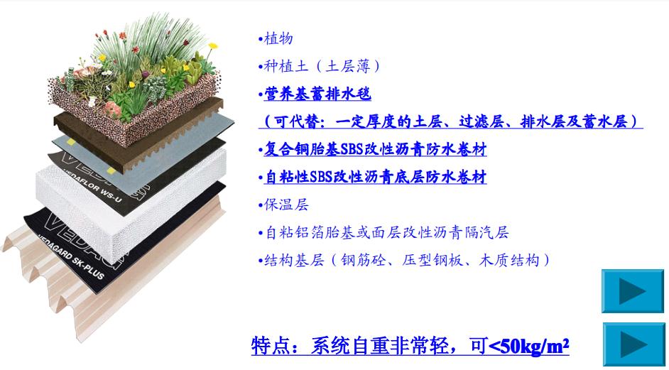 花园式种植屋面系统结构图