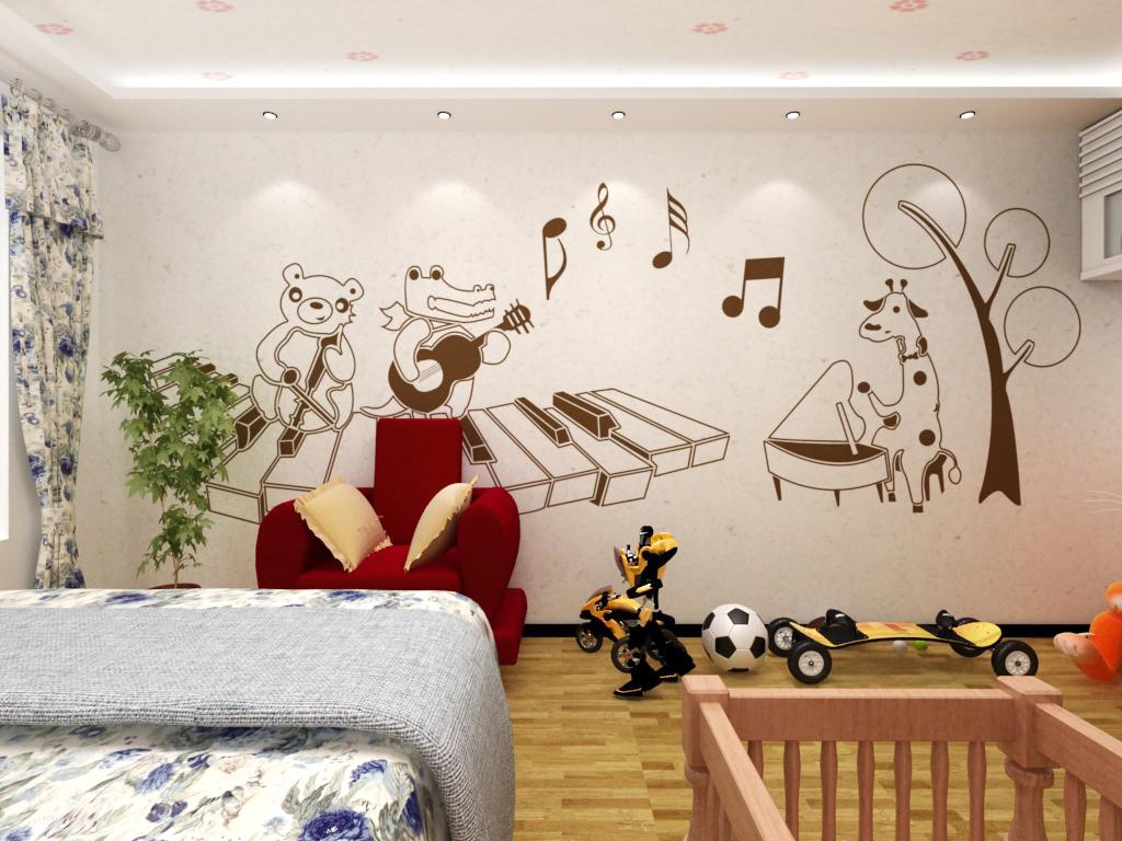 一群快乐的小伙伴,弹奏悠扬的乐曲,和宝贝无忧无虑的玩耍。