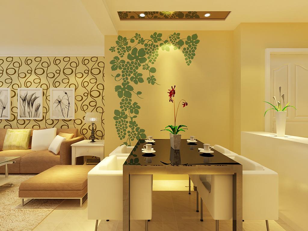 淡雅的绿色配合金黄色的肌理,一直是居家装饰的主旋律。