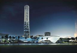 珠海十字门中央商务区标志性塔楼
