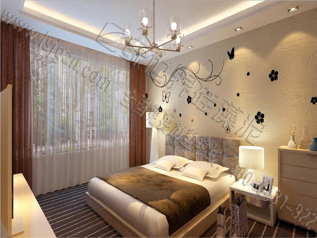 卧室是一个家庭最温馨的地方,甩花是 一个大气浪漫的选择。