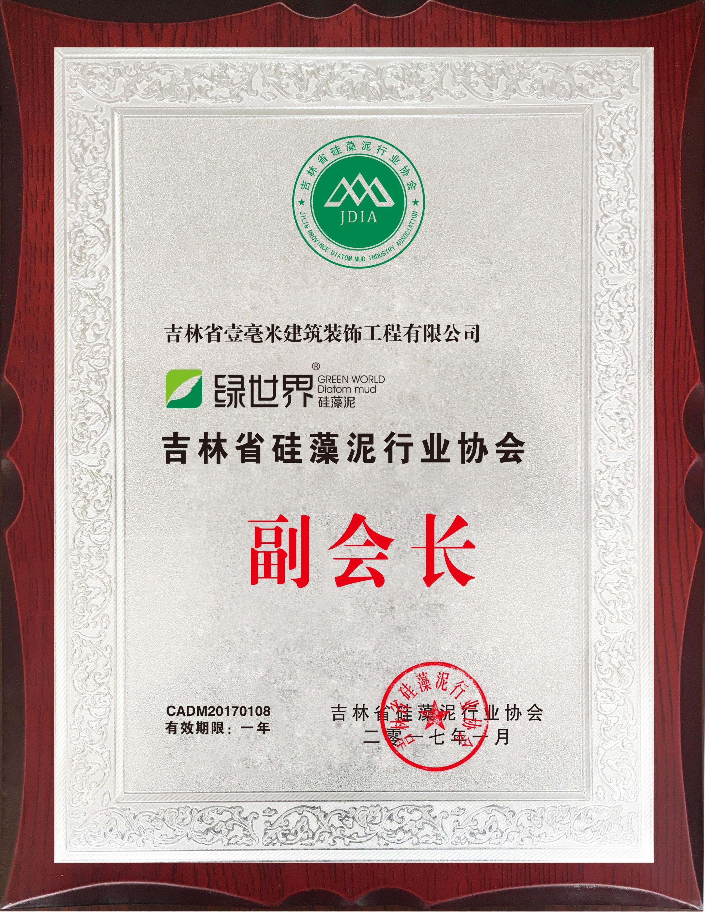 吉林省硅藻泥行业副会长
