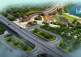 渭南市南湖公园(渭南市重点项目,占地面积81万㎡,造价4亿元)