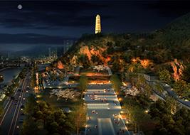 延安宝塔山景区(EPC 项目)(陕西省重点项目,占地面积110亩,造价7.5亿元)