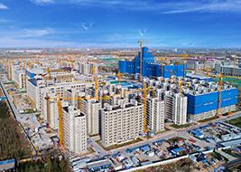 中国西部科技创新港西安交通大学科创基地(国家重点项目, 占地面积约4376亩,建筑面积约360万㎡)