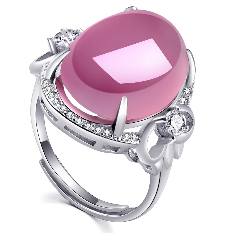 粉色宝石戒指