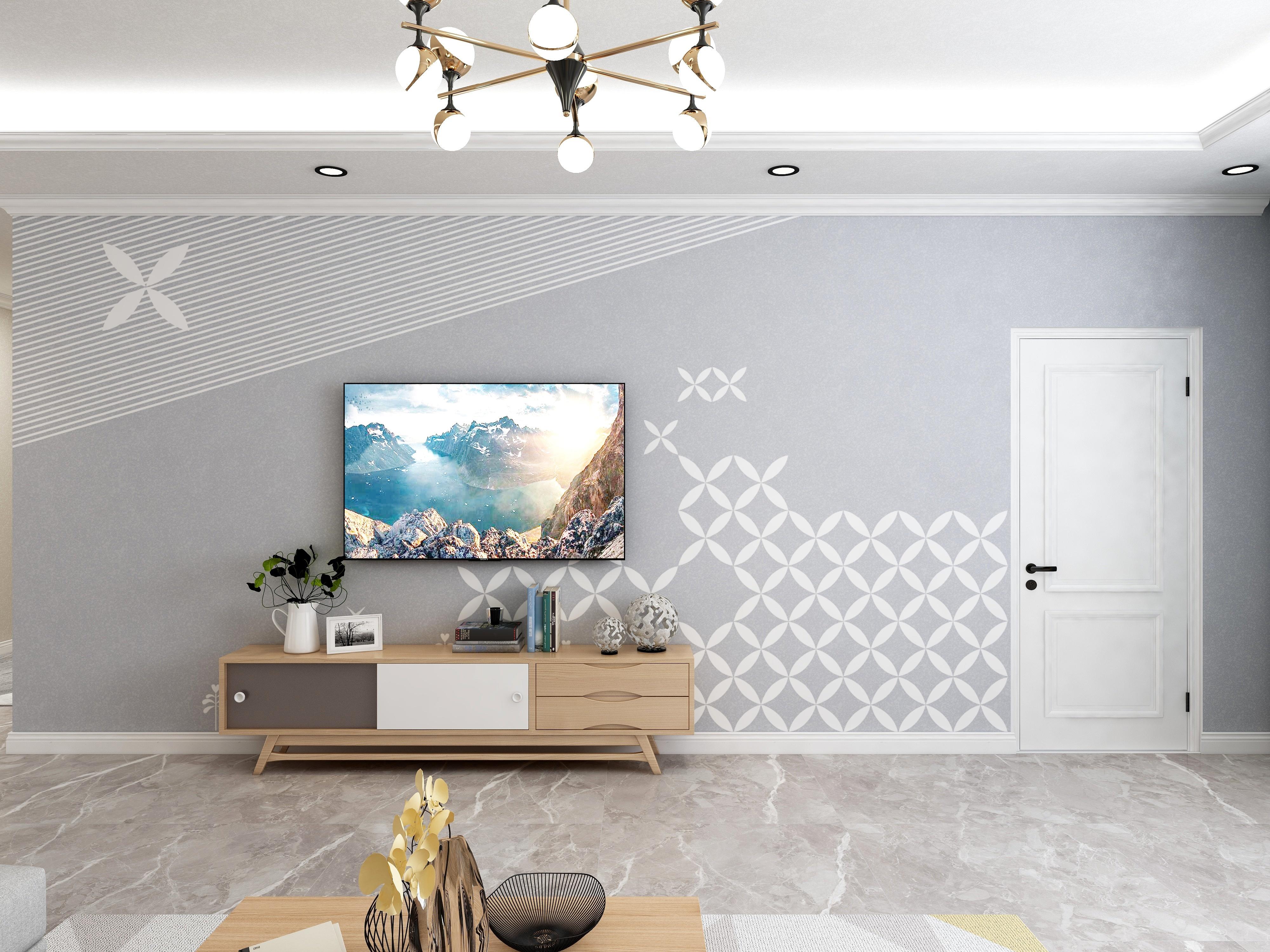 北欧电视背景墙
